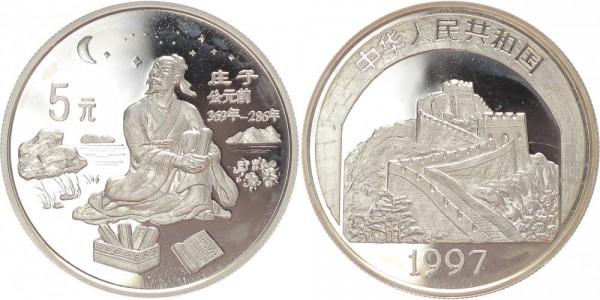 China 5 Yuan 1997 - Zhuang Zi