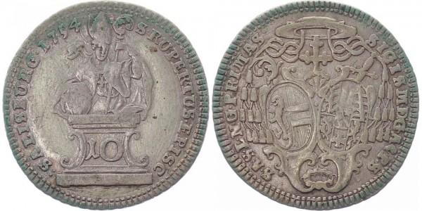Salzburg 10 Kreuzer 1754 - Sigismund von Schrattenbach