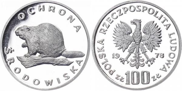 Polen 100 Zlotych 1978 - Umweltschutz