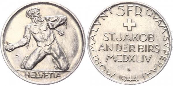 Schweiz 5 Franken 1944 - Schlacht v. St. Jakob