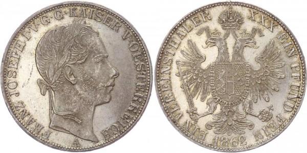 Österreich Taler 1862 A Vereinstaler, Franz Josef