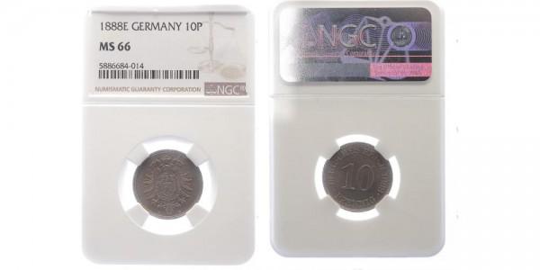 Kaiserreich 10 Pfennig 1888 E