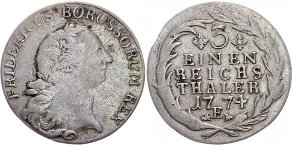 Preussen 1/3 Taler 1774 E Friedrich II. (1740-86)