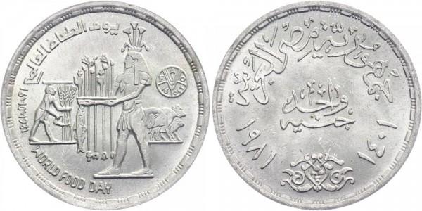 Ägypten 1 Pfund 1981/1401 - Welternährungstag