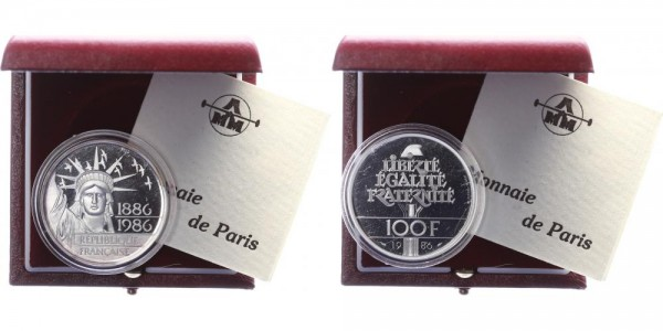 Frankreich 100 Francs 1986 - Freiheitsstatue