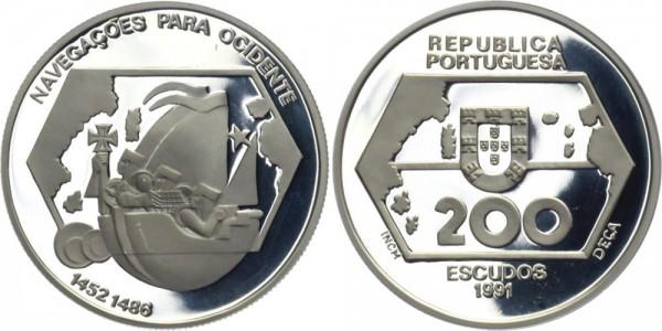 PORTUGAL 200 ESC 1991 - Erkundung des Westens