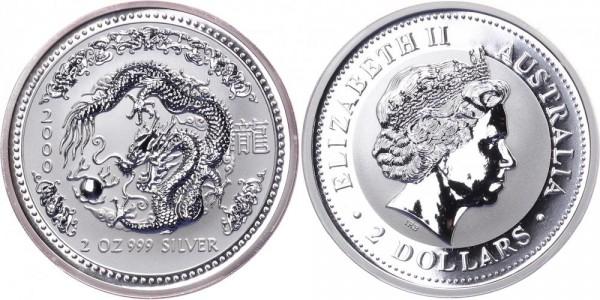 Australien 2 Dollars 2000 - Jahr des Drachen