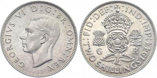 Großbritannien 2 Shilling 1944 - Georg VI.