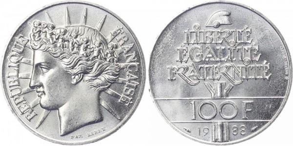 Frankreich 100 Francs 1988 - Brüderlichkeit