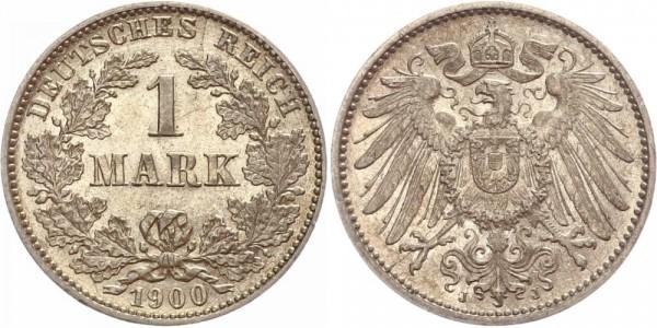 Deutsches Reich 1 Mark 1900 J Großer Adler