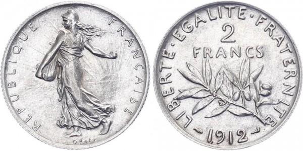 Frankreich 2 Francs 1912 - Kursmünze