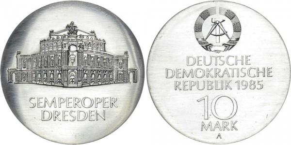 DDR 10 Mark 1985 A Semperoper