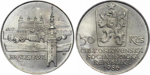 CSSR 50 Kč 1986 - Bratislava