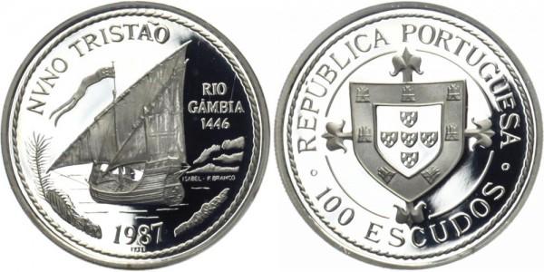 """PORTUGAL 100 ESC 1987 - Entdecker """"Nuno Tristão"""""""