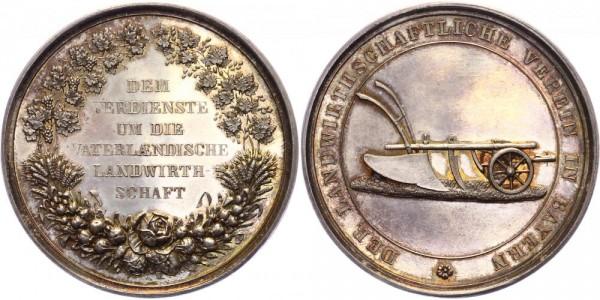 Bayern Medaille o.J. Der landwirtschaftliche Verein in Bayern, A. Börsch, Pflug auf Ackerboden
