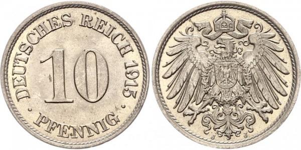 Kaiserreich 10 Pfennig 1915 J Kursmünze
