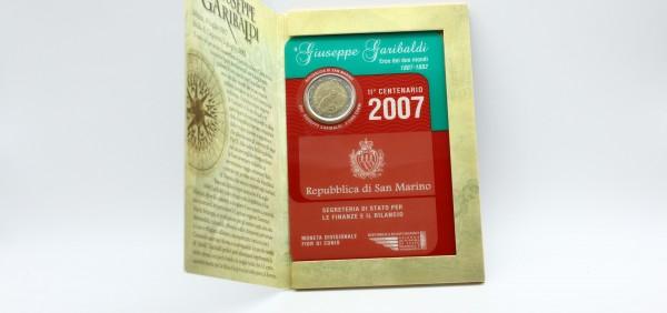 San Marino 2 Euro 2007 - Giuseppe Garibaldi im Klappfolder