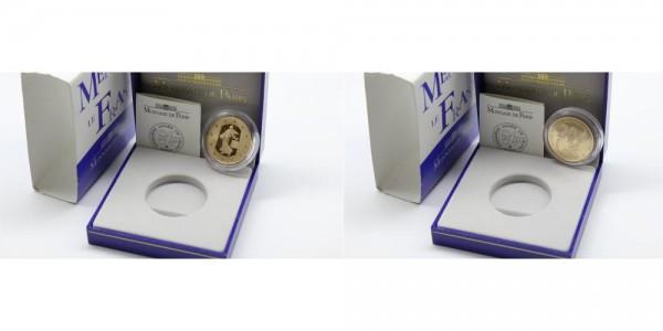 Frankreich 50 Euro 2002 Einführung Euro, 1 OZ, PP, inkl. original Etui und OVP