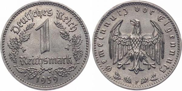 Drittes Reich 1 Reichsmark 1939 F