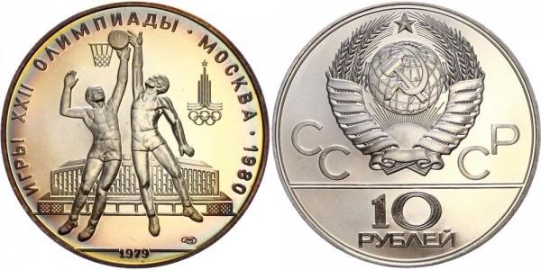 Russland 10 Rubel 1979 - Olympiade Moskau