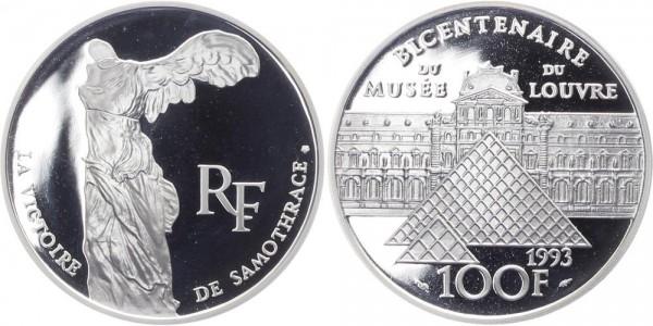 Frankreich 100 Francs 1993 - 200 Jahre Louvre, Der Sieg von Samothrake