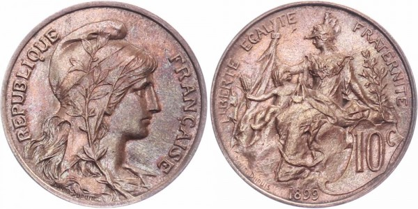 Frankreich 10 centimès 1898-1917 - Kursmünze