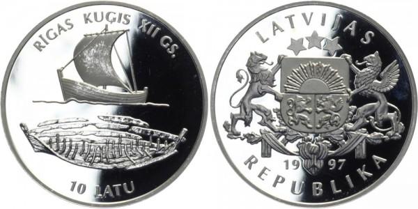 LETTLAND 10 Latu 1997 - Rigas Kugis