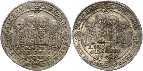 Sachsen-Weimar 1/2 Taler 1609 WA (Saalfeld) Johann Ernst und seine sieben Brüder, 1605-1619