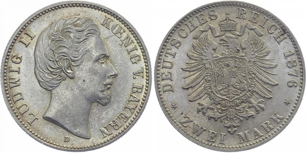 BAYERN 2 Mark 1876 D Ludwig II.