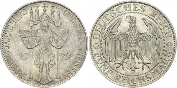Weimarer Republik 5 Mark 1929 E Meißen