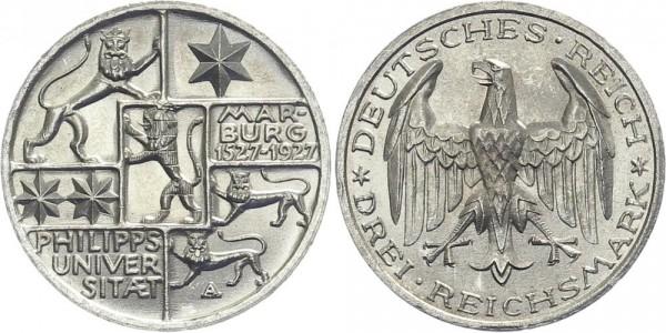 Weimarer Republik 3 Mark 1927 A Philipps-Universität Marburg