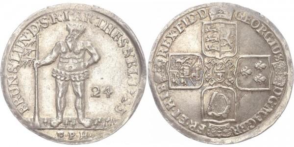 Braunschweig-Calenberg-Hannover 2/3 Taler 1723 EPH (Zellerfeld) Georg I.