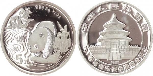 China 5 Yuan 1997 - Panda Messe Hong Kong