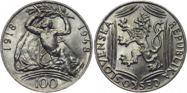 CSR 100 Kč 1948 - 30 J. Frei von Österreich