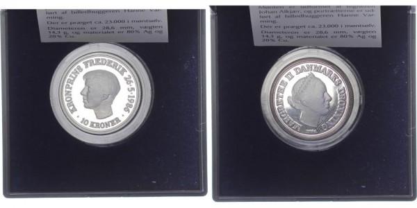 Dänemark 10 Kroner 1986 - 18. Geburtstag Frederik