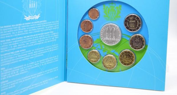 San Marino 3,88€ + 5 € 2008 Euro KMS, 5 € Silbermünze
