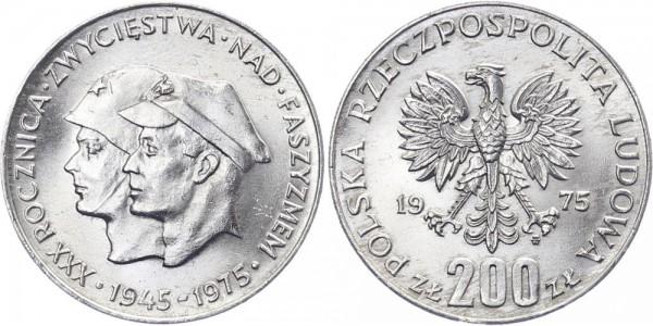 Polen 200 Zlotych 1975 - 30. Jahre Kriegsende