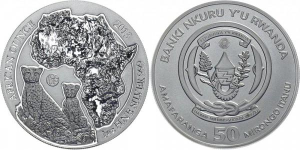 Ruanda 50 Itanu 2013 - Leoparden