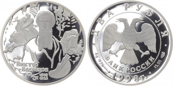 Russland 2 Rubel 1998 - V.M. Vasnecov (Mitte)