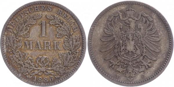 Kaiserreich 1 Mark 1886 F Kursmünze