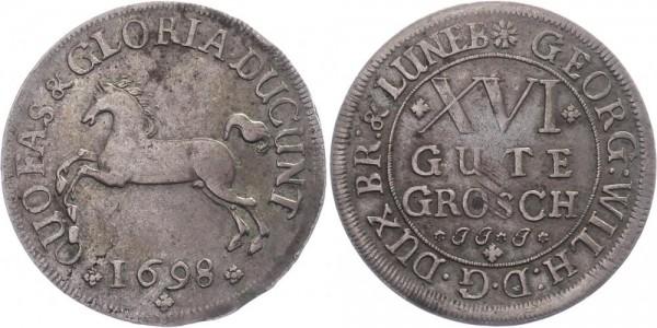 Braunschweig Lüneburg Celle 16 Gute 1698 - Georg Wilhelm