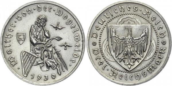 Weimarer Republik 3 Mark 1930 A Walther von der Vogelweide