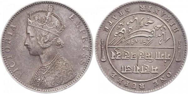 Indien 1 Rupie 1892 Bikanir Victoria