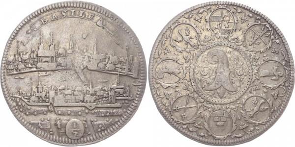 Schweiz 1/2 Taler o.J. (um 1720) Basel Stadtansicht