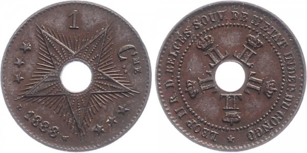 Belgisch-Kongo 1 Cent 1888