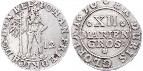Braunschweig 12 Mariengroschen 1670 - Wilder Mann