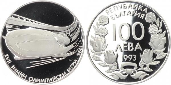 Bulgarien 100 Leva 1993 - XVII Olympischen Winterspiele