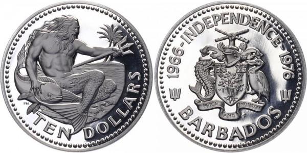Barbados 10 Dollars 1976 - Poseidon