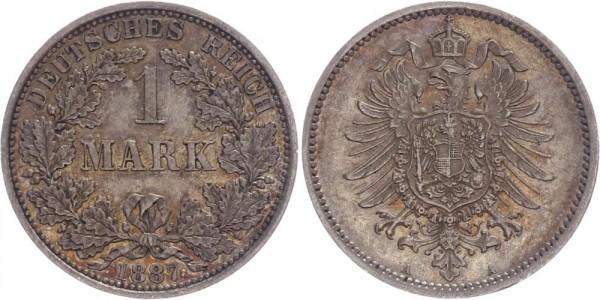 Kaiserreich 1 Mark 1887 A Kursmünze