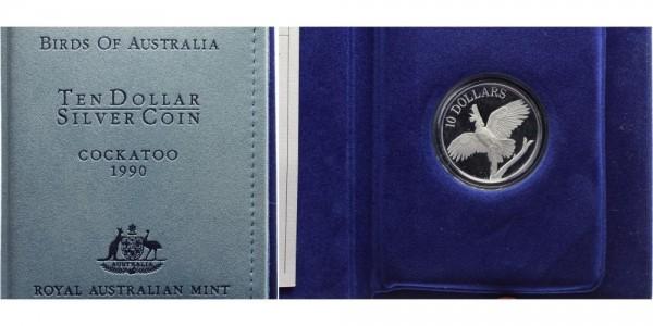 Australien 10 Dollars 1990 - Cockatoo